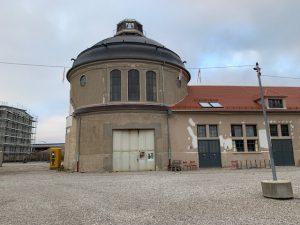 Scheibengasbehälter Gaswerk Augsburg Hofmann-Brand Ausstellung 2021